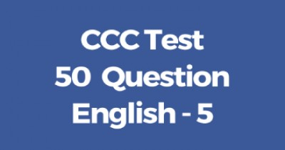 CCC Online Test 50 Question in English