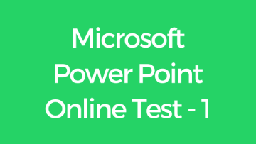 Microsoft Power Point Online Test - 1