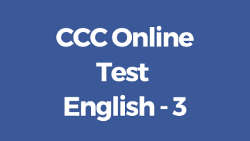 CCC Online Test in English 3