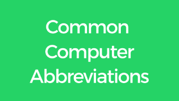 Common Computer Abbreviations